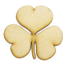 Clover Leaf cut from 3mm MDF, Craft Blanks, Shapes, Tags, Autumn Leaf